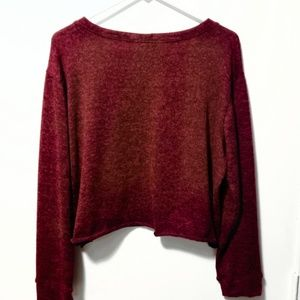 Agnes & Dora Sweaters - Agnes & Dora Burgandy XL Sweater